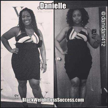 Danielle lost weight 100 days