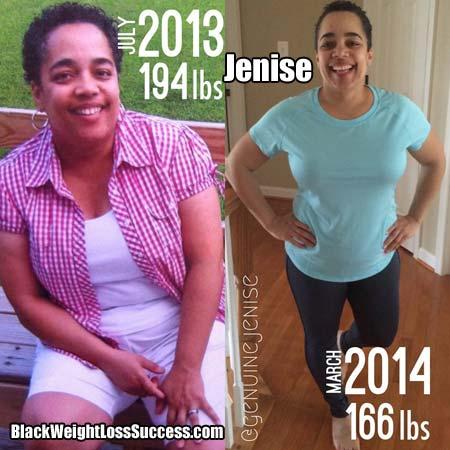 Jenise weight loss