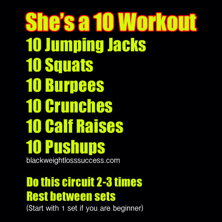 She is a 10 Workout
