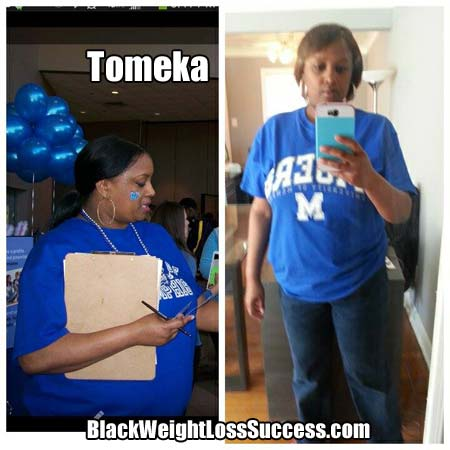 Tomeka before and after