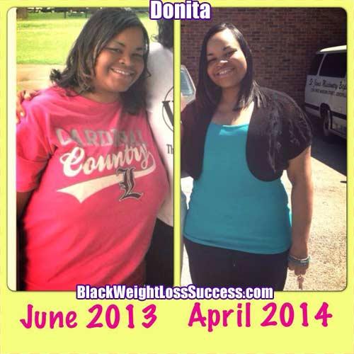 Donita before and after photos