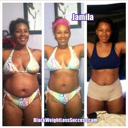 Jamila before and after