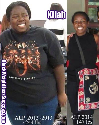 Kilah before and after