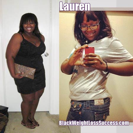 Lauren before and after