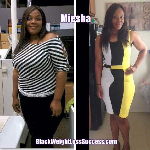 Miesha before and after photos