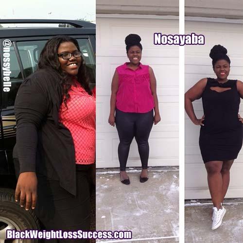 Nosayaba weight loss story