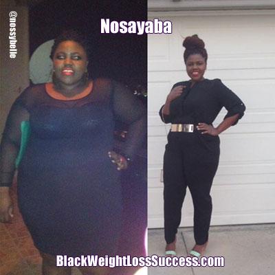 Nosayaba before and after