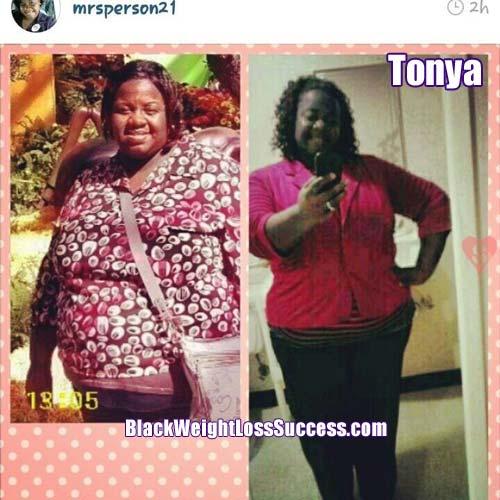 Tonya weight loss plan