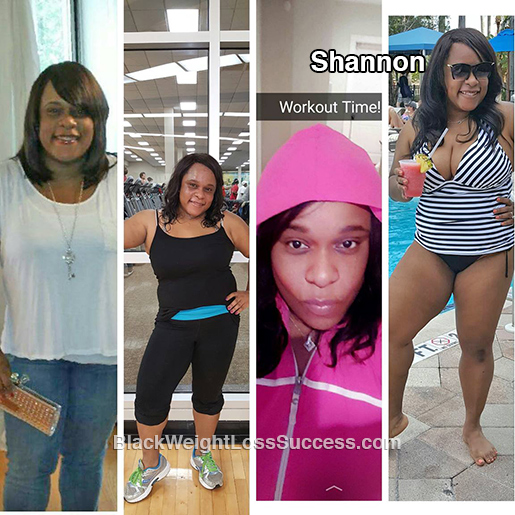 shannon before and after