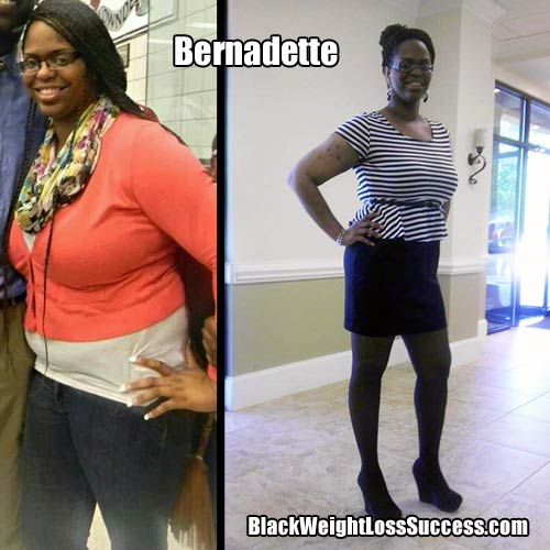 Bernadette before and after