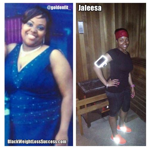 Jaleesa before and after photos