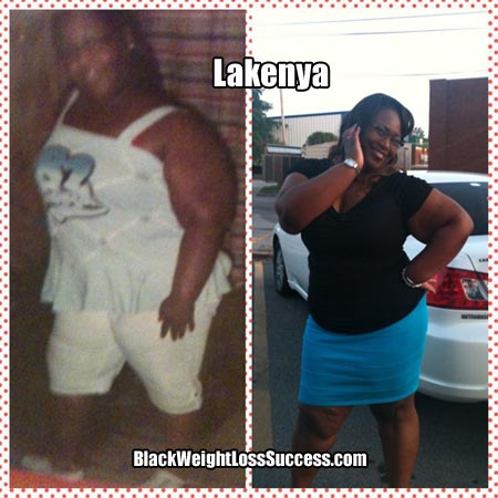 Lakenya before and after