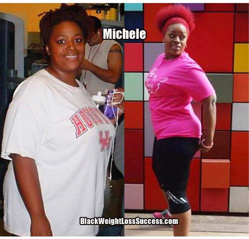 Michele before and after