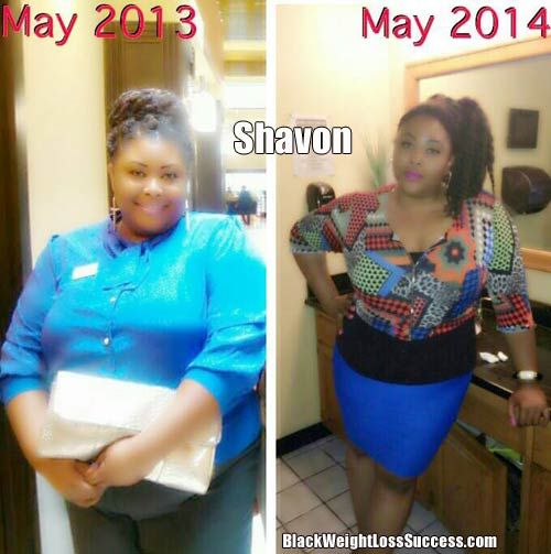 Shavon before and after