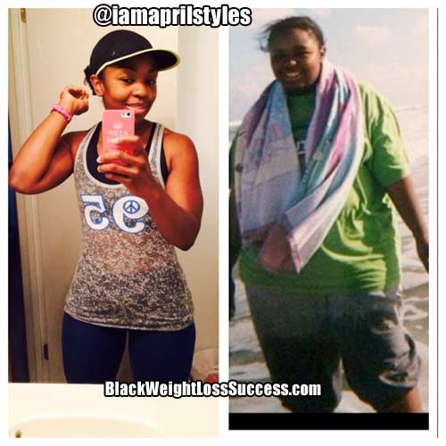 April lost 100 pounds