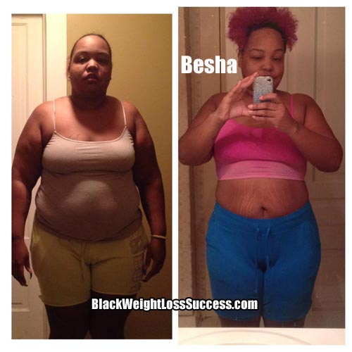 Besha before and after