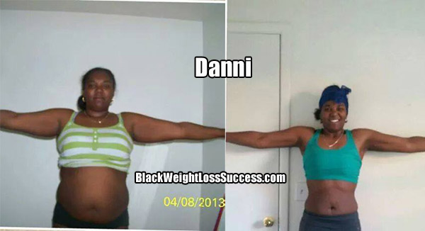 Danni before and after