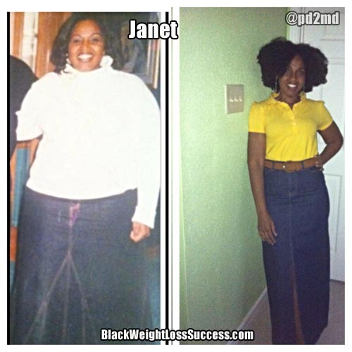 Janet before and after photos