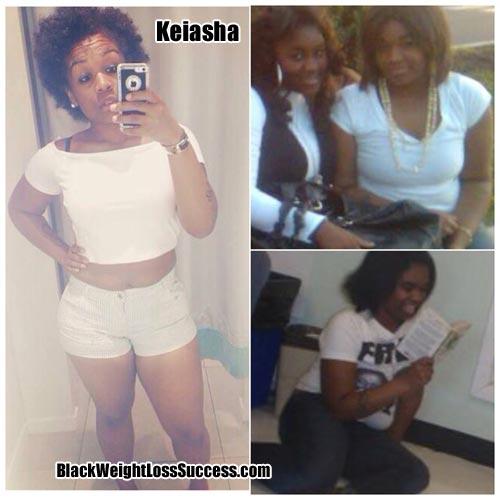 Keiasha weight loss success story