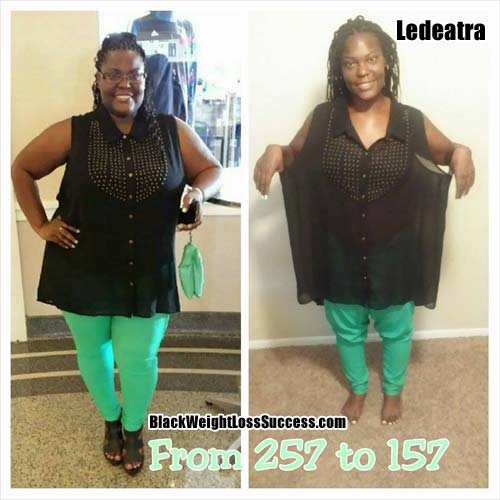 Ledeatra lost 100 pounds