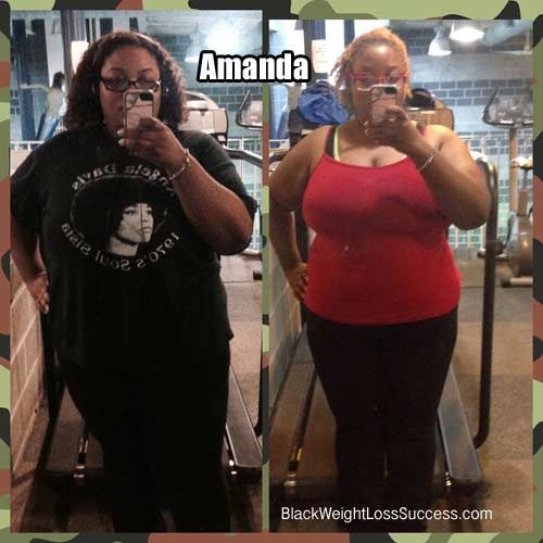 Amanda weight loss photos