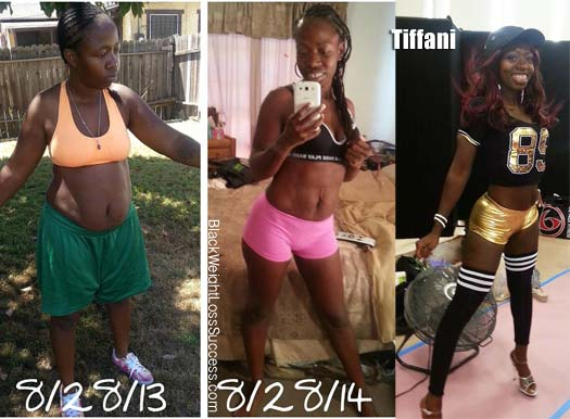 Tiffani before and after