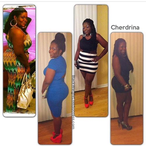 Cherdrina before and after weight loss