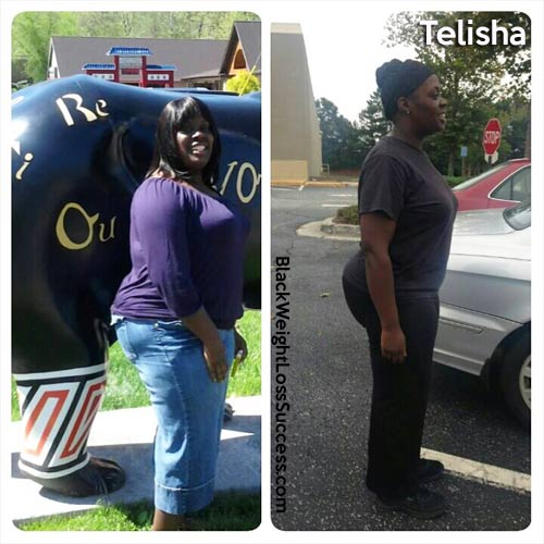 Telisha before and after