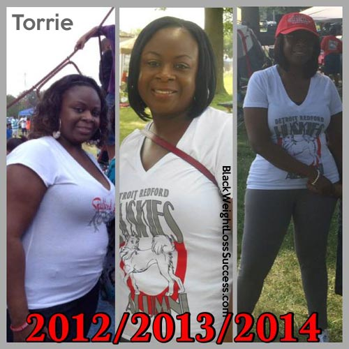 Torrie before and after