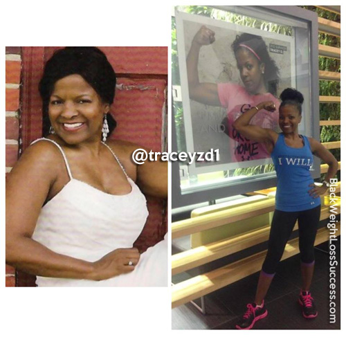 Tracy before and after