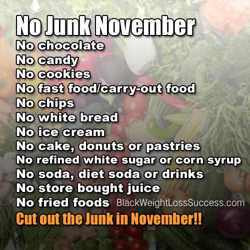 no junk november