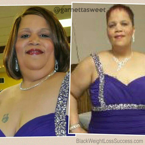 Garnetta Sweet before and after