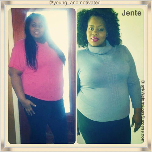 Jente before and after