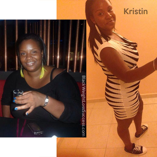 Kristin before and after