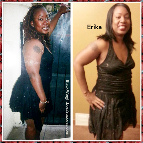 Erika before and after