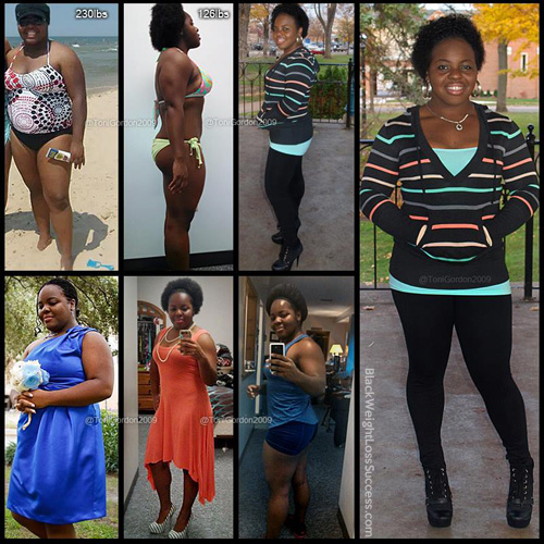 Toni Gordon before and after
