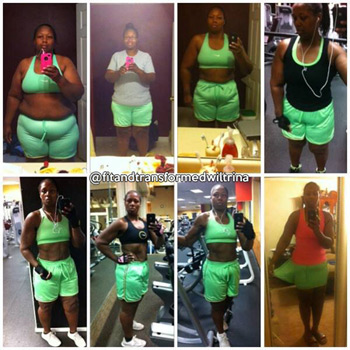 Wiltrina has done an awesome job of documenting her progress with photos.