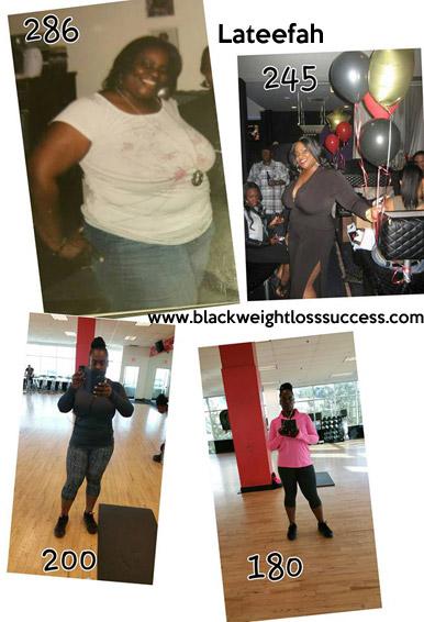 lateefah weight loss