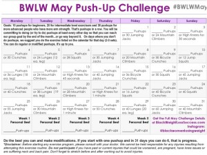 May Pushup calendar