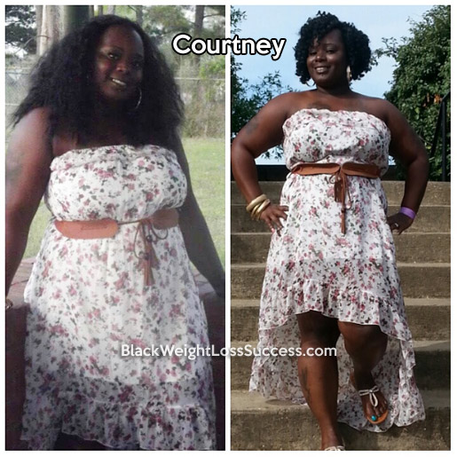 Courtney before and after