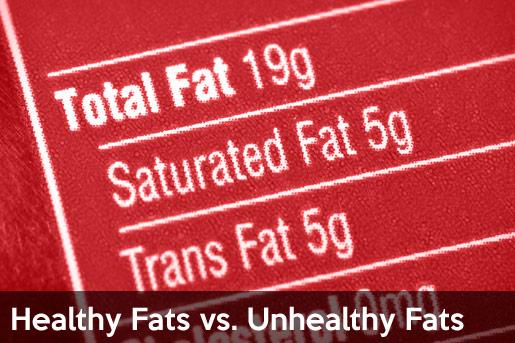 healthy fats vs unhealthy fats