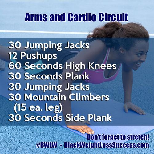 arms cardio circuit