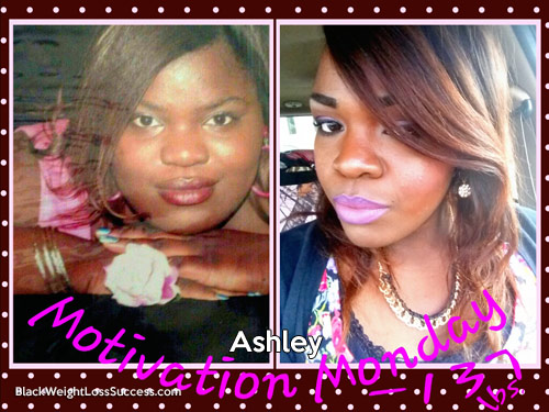 ashley lost over 100 pounds