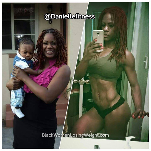 danielle before and after