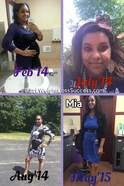 mia pregnant weight loss
