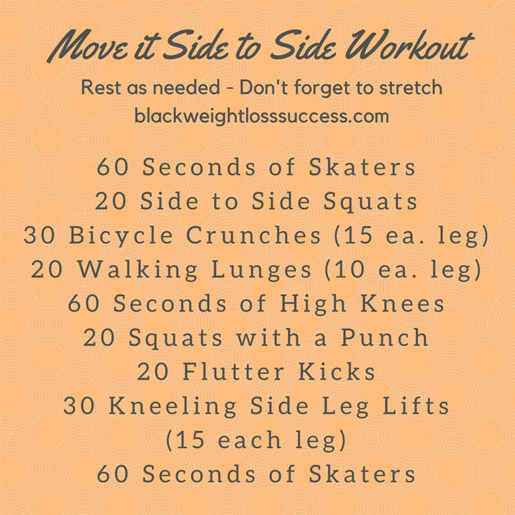 Move it side to side workout