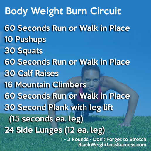 body weight burn circuit