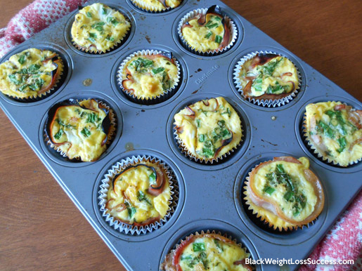 egg muffin fresh out of oven