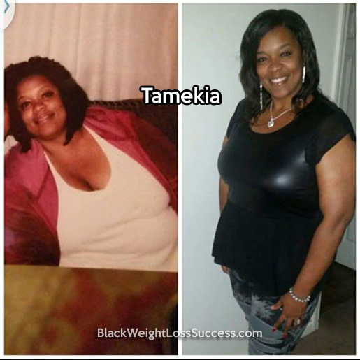 tamekia before and after