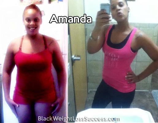 amanda weight loss
